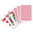 Copag 100% plasztik kártya, 55 lap, kis index, piros hátoldalú