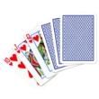 Copag 100% plasztik kártya, 55 lap, kis index, kék hátoldalú