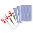 Copag 100% plasztik kártya, 55 lap, nagy index, kék hátoldalú