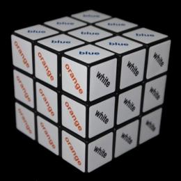 Rubik Színes 3x3 szöveg kocka