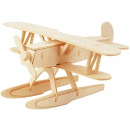 Gepetto's Workshop - Hidroplán - 3D fapuzzle, 473146