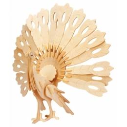 Gepetto's Workshop - Páva - 3D fapuzzle, 473163