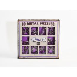 10 Metal Puzzle Set - lila *-***