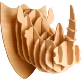 Gepetto's Workshop - Rinocéroszfej- 3D fapuzzle, 473176