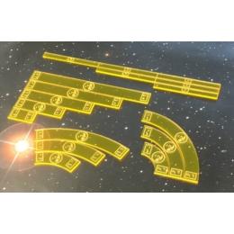 Star Wars X-Wing acrylic template set, sárga (Scums)