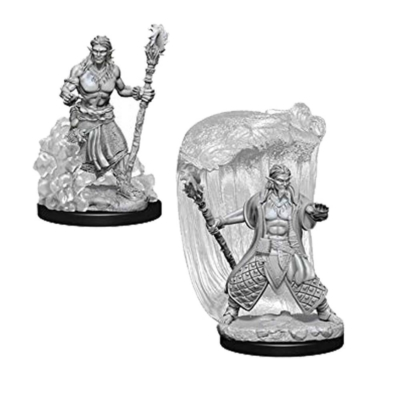 D&D Nolzur's Marvelous Miniatures: Water Genasi Druid Male