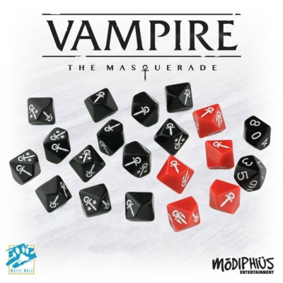 Dobókocka készlet, 20 darabos Vampire the Masquerade 5. kiadás