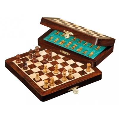 Úti sakk-készlet fából, mágneses - 2721