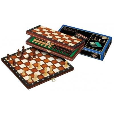 Úti sakk-készlet fából, mágneses - 2701