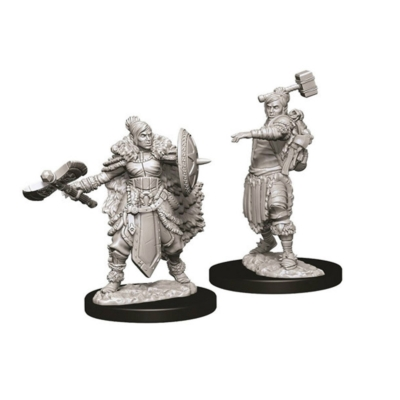 D&D Nolzur's Marvelous Miniatures: Half-Orc Barbarian Female
