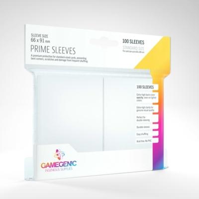 GameGenic Prime Sleeves, fehér - 66x91mm (100 db/csomag)