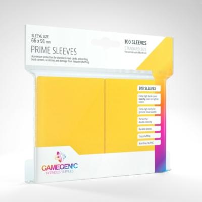 GameGenic Prime Sleeves, sárga - 66x91mm (100 db/csomag)