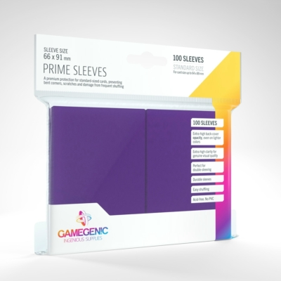 GameGenic Prime Sleeves, lila - 66x91mm (100 db/csomag)