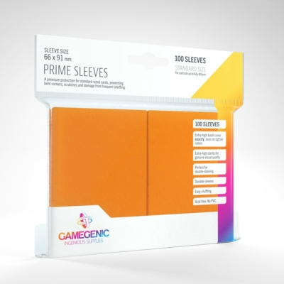 GameGenic Prime Sleeves, narancs - 66x91mm (100 db/csomag)