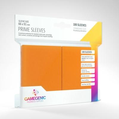 GameGenic Prime Sleeves, narancs - 66x91mm (100 db/csomag)
