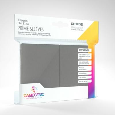 GameGenic Prime Sleeves, szürke - 66x91mm (100 db/csomag)