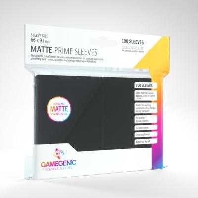 GameGenic Matte Prime Sleeves, fekete - 66x91mm (100 db/csomag)