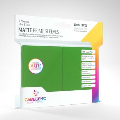 GameGenic Matte Prime Sleeves, zöld - 66x91mm (100 db/csomag)