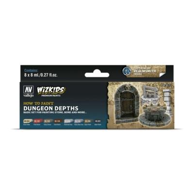 Wizkids Premium set by Vallejo: Dungeon Depths festékszett