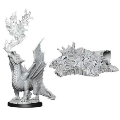 D&D Nolzur's Marvelous Miniatures: Gold Dragon Wyrmling & Treasure