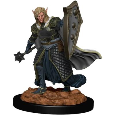 D&D Icons: Elf Male Cleric Premium Prepainted Miniature