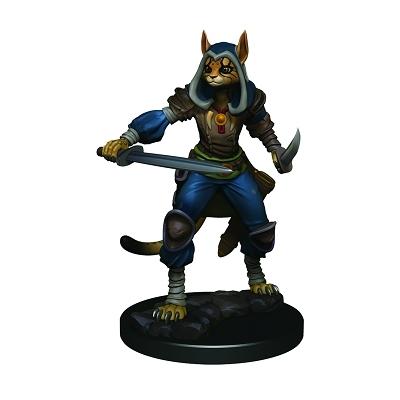 D&D Icons: Tabaxi Female Rogue Premium Prepainted Miniature