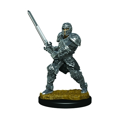 D&D Icons: Human Male Fighter Premium Prepainted Miniature