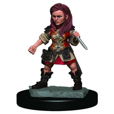 D&D Icons: Halfling Female Rogue Premium Prepainted Miniature
