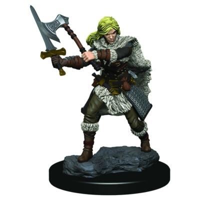 D&D Icons: Human Female Barbarian Premium Prepainted Miniature