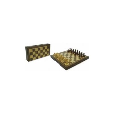 Sakk készlet fából, mágneses 23x23cm-es - 670926
