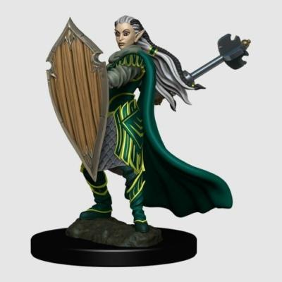 D&D Icons: Elf Female Paladin Premium Prepainted Miniature