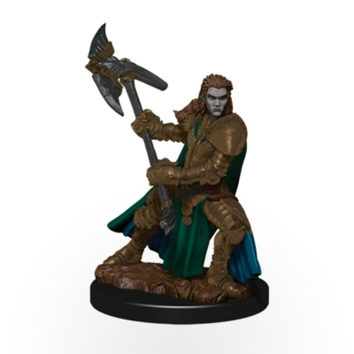 D&D Icons: Half-Orc Female Fighter Premium Prepainted Miniature