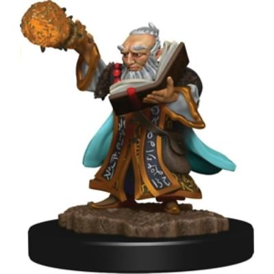 D&D Icons: Gnome Male Wizard Premium Prepainted Miniature