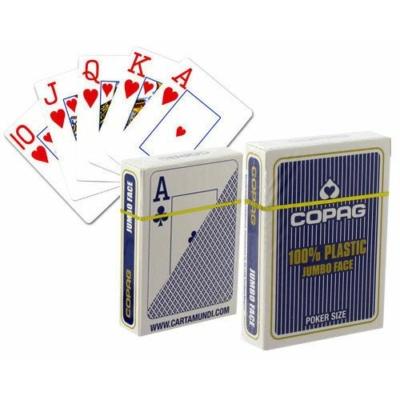 100% Plastic Poker PKJ, COPAG Kék