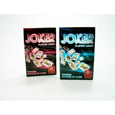 Joker standard römi kártya, kék vagy piros hátlappal