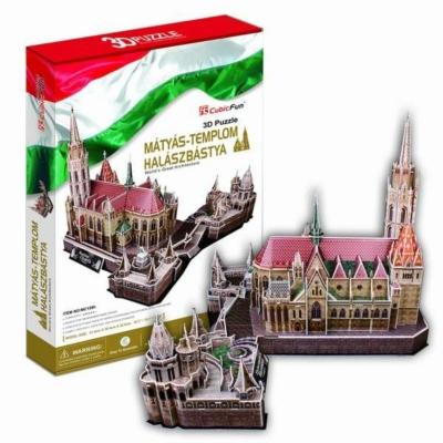 3D puzzle - Mátyás-templom, Halászbástya 176 db-os