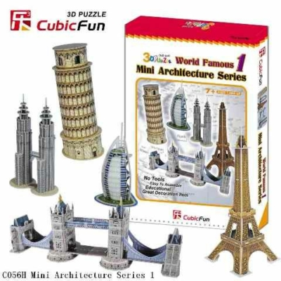 3D puzzle - Mini építészeti sorozat 1.