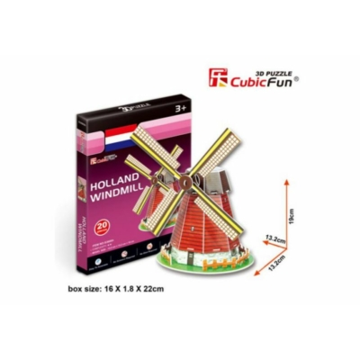 3D puzzle - Holland Windmill 20 db-os