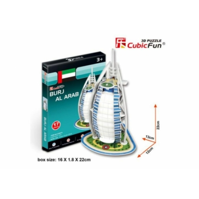 3D puzzle - Burj Al Arab (Dubai) 17 db-os