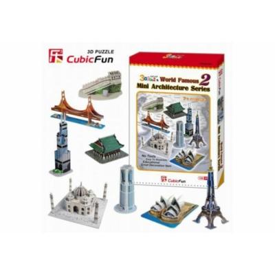 3D puzzle - Mini építészeti sorozat 2. 144 db-os