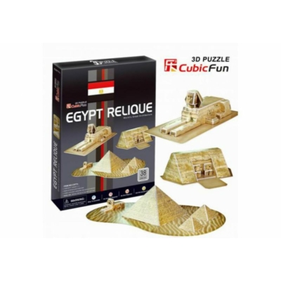 3D puzzle - Egyptian Pyramids 38 db-os
