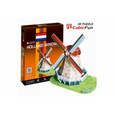 3D puzzle - Holland Windmill 45 db-os
