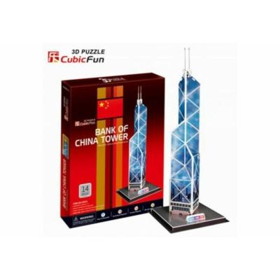 3D puzzle - Bank of China Tower 14 db-os