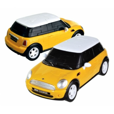 3D Puzzle - Mini Cooper - sárga