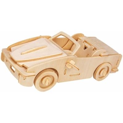 Gepetto's Workshop - Nyitott tetejű autó - 3D fapuzzle, 473153