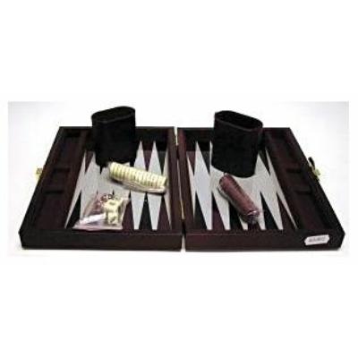 Backgammon 23x17 cm, barna műbőr - 604067