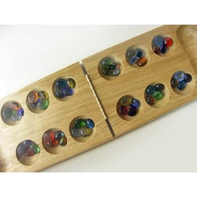 Kalaha, összecsukható, üveg kövekkel - 796150