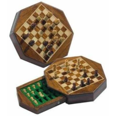 Sakk készlet, mágneses nyolcszögű táblán, 14x14cm-es - 672718