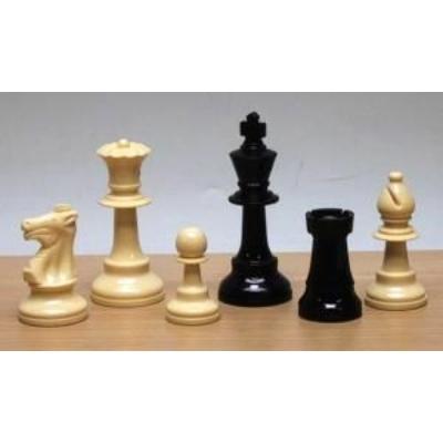 Sakkfigura készlet súlyozott, 93 mm, műanyag, Staunton 6 - 650411