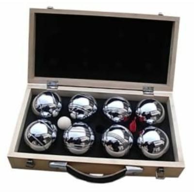 Pétanque fa dobozban, 8 golyó - 251206